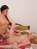 Two Lesbian Teens Playing With A Dildo - Picture 11