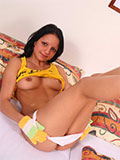 Sweet Brunette Teen Masturbating Her Lil Pussy - Picture 5
