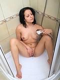 Brunette Teen Hottie Masturbates In A Shower - Picture 13